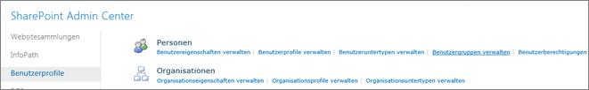 Den Link Zielgruppen verwalten auf der Profilseite
