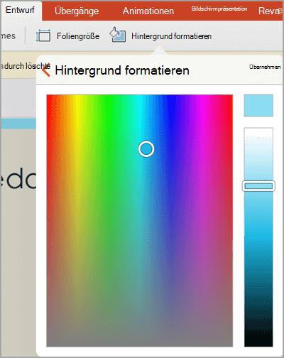 Benutzerdefinierte Hintergrundfarben