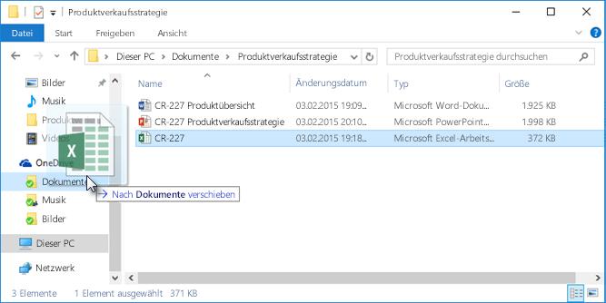 Hochladen von Dateien auf OneDrive