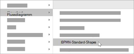 Fügen Sie Ihren Shapes BPMN-Basis-Shapes hinzu.