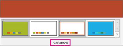 Abbildung von Varianten des PowerPoint-Designs