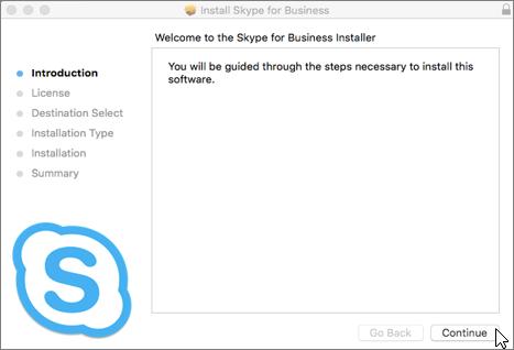 Skype for Business-Installationsprogramm