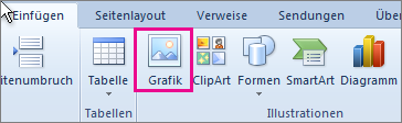 """Office 2010, """"Bild einfügen"""""""