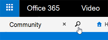 Office 365-video-Suchfeld