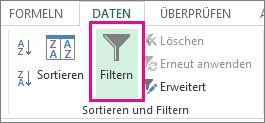 """Schaltfläche """"Filtern"""""""