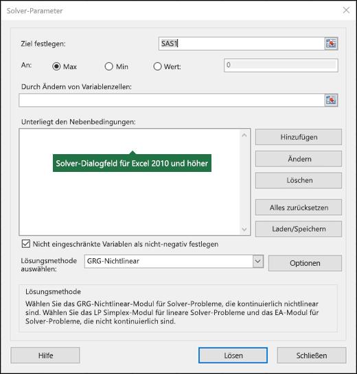 Erkennen und Lösen eines Problems mithilfe von Solver - Office-Support