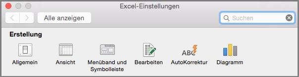 Office 2016 für Mac – Einstellungen für Menüband und Symbolleiste