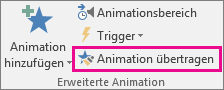 Animation übertragen