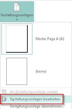Bearbeiten Sie Ihre Gestaltungsvorlagen in Publisher2013.