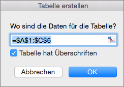 """Auf der Registerkarte """"Einfügen"""" auf """"Tabelle einfügen"""" klicken"""
