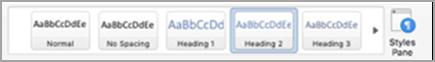 Verfügbare Formatvorlagen