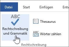 Rechtschreib Und Grammatikprüfung In Office Office Support