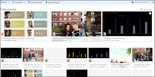 Office 365-Dokumentbibliothek