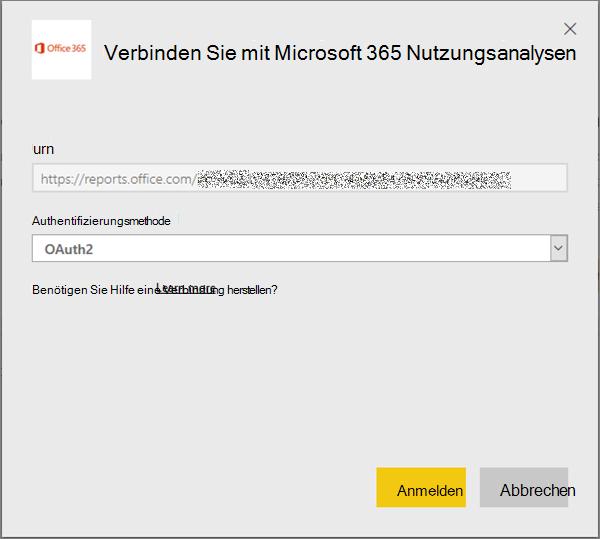 """Auswählen von """"oAuth2"""" als Authentifizierungsmethode"""