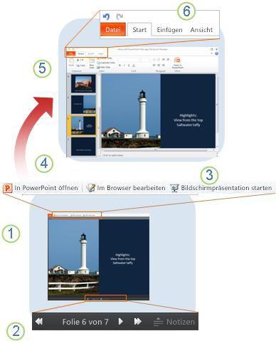 PowerPoint Web App im Überblick