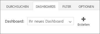 Neues Dashboard in der Dashboardliste