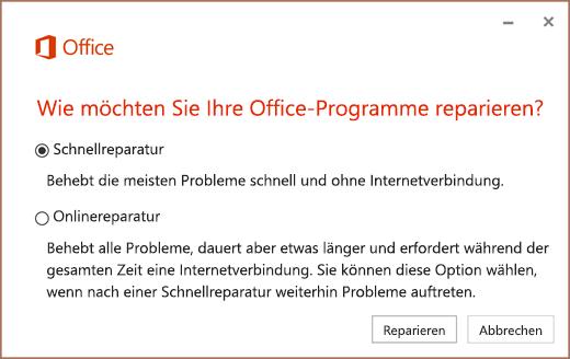 Office-Schnellreparatur