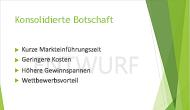 """Beispiel für ein Textwasserzeichen (""""ENTWURF"""") als Hintergrund einer PowerPoint-Folie"""