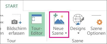 Schaltfläche 'Neue Szene' auf der Registerkarte 'Start'