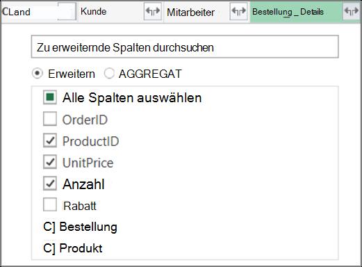 """Erweitern der """"Order_Details""""-Tabellenverknüpfung"""