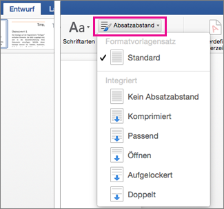 ändern Des Zeilenabstands In Word Für Mac Word For Mac