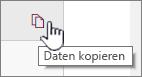 """Klicken Sie auf das Symbol """"Daten kopieren"""", um die aktuellen Web part-Daten zu kopieren."""
