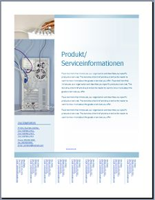 Vorlage 'Flyer (Soft Blue design)' in OfficeOnline