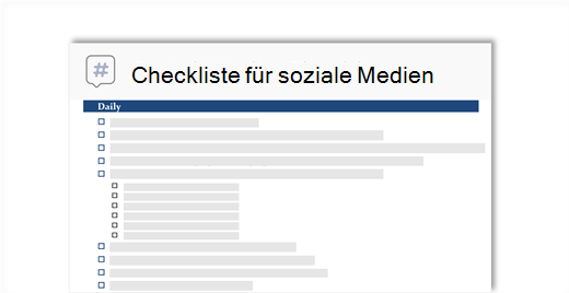 konzeptionelle Abbildung einer Social-Media-Checkliste