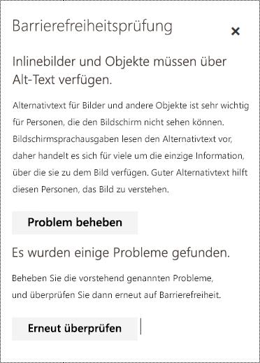 Überprüfen einer E-Mail auf Barrierefreiheitsprobleme in Outlook im Web.