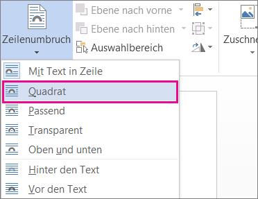 """Zeilenumbruch """"Quadrat"""""""