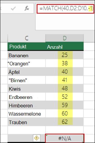 Excel-Vergleich (Funktion)