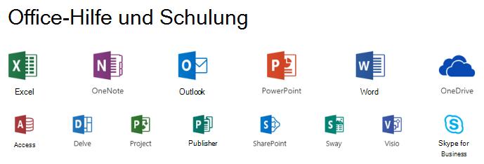Support Optionen für Microsoft Office