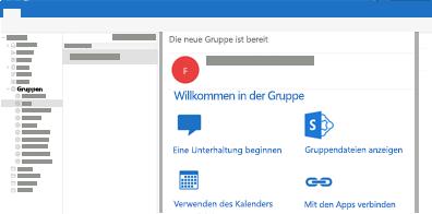 Anzeigen und Lesen oder Antworten auf Gruppenunterhaltungen in Outlook für Mac