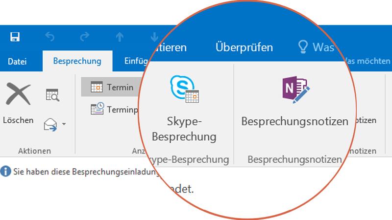 Zusammenarbeiten mit Skype und OneNote