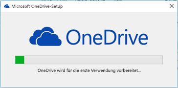 OneDrive-Installationsstatus