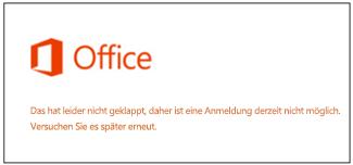 Problem beim Anmelden bei Ihrem Microsoft-Konto