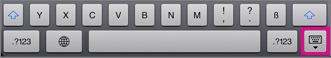 Tippen Sie auf die Tastaturtaste unten rechts, um die Tastatur auszublenden