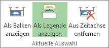 """Schaltflächen """"Als Legende anzeigen"""" in Project"""