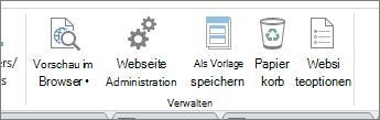 Verwalten von Website-Schaltflächen