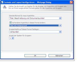 Konfigurieren des Linklayouts