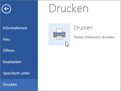 Schaltfläche 'Drucken als PDF-Datei' in Word Online