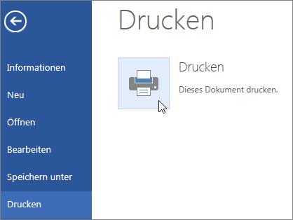 """Schaltfläche """"Drucken als PDF-Datei"""" in Word Online"""
