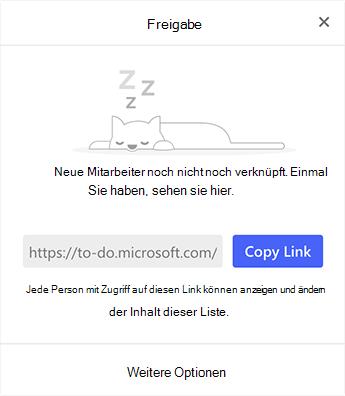 """Screenshot mit dem Menü """"Freigabe"""""""