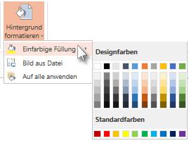 Auswählen einer Hintergrundfarbe