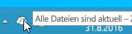 Screenshot des weißen OneDrive-Symbols in Windows 8.1.