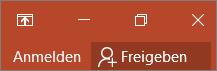 Zeigt den Anmeldelink in der oberen rechten Ecke von Office-Anwendungen