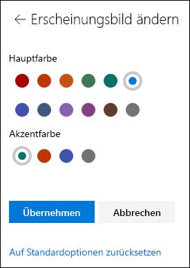 Anpassen des Designs der SharePoint-Website