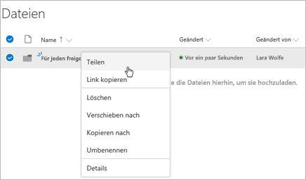 Office 365 freigeben Ordner