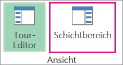 Schaltfläche für den Bereich 'Vorgänge' auf der Registerkarte 'Start'