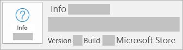 Screenshot, der zeigt, dass es sich um eine Microsoft Store-Installation handelt